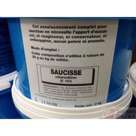 SAUCISSE CHARCUTIERE E162 2 KG