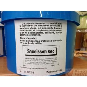 SAUCISSON SEC ORD. (E120) 2Kg