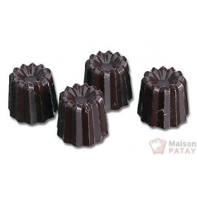 MOULES A CHOCOLAT : PLAQUE 40CANNELE 24X24MM SANS BPA