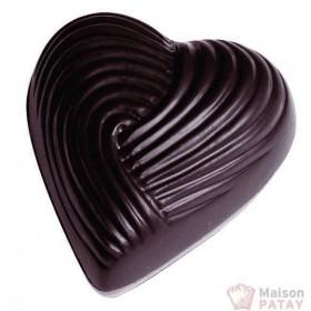 MOULES A CHOCOLAT : PLAQUE 3X7 BONBONS COEUR STRIE
