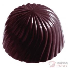 MOULES A CHOCOLAT : PLAQUE 4X8 BONBONS ROSACE