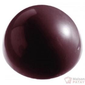 MOULES A CHOCOLAT : PLAQUE CHOCO 6 DEMI SPHERE 70