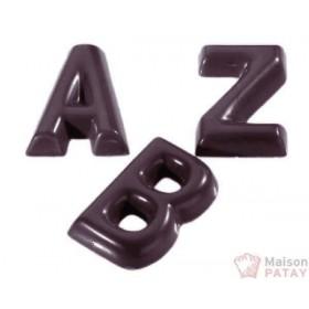 MOULES A CHOCOLAT : PLAQUE CHOCO ALPHABET
