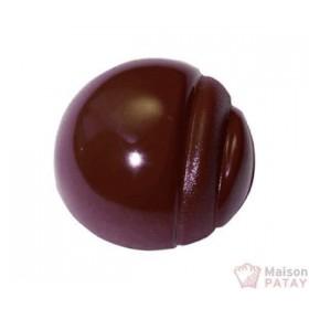 MOULES A CHOCOLAT : PLAQUE 28 1/2SPHERE STRIE SANS BPA