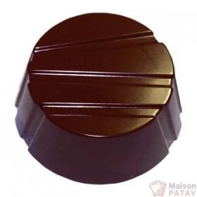 MOULES A CHOCOLAT : PLAQUE 28BONBON ROND RAYE SANS BPA