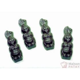 MOULES A CHOCOLAT : PLAQUE LAPIN RIEUR 70X25X10 MM