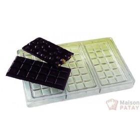 MOULES A CHOCOLAT : PLAQUE TABLISTER CHOCO 3X100G SANS BPA