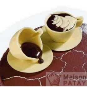 MOULES A CHOCOLAT : PLAQUE CHOCO 3 SOUCOUPES 80 MM