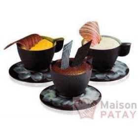 MOULES A CHOCOLAT : PLAQUE CHOCO 7 TASSES EXPRESSO