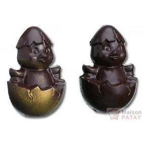 MOULES A CHOCOLAT : *PLAQUE MOULE 2POUSSINS110X75X68