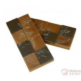 MOULES A CHOCOLAT : PLAQUE 3X2TABLETTE FLEUR CACAO