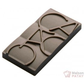MOULES A CHOCOLAT : PLAQUE 12 MINI TABLETTES CACAO