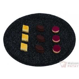 MOULES A CHOCOLAT : PLAT PAP ROND CRYSTAL NOIR D34
