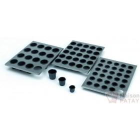 TOILES, FEUILLES CUISSON : PLAQUE 16 CANNELE EXOGLASS 55