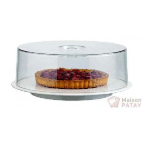 PLATS ET GUERIDONS : CLOCHE RONDE TRANSPARENT 300X97MM