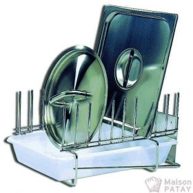 ACCESSOIRES INOX : RACK A COUVERCLES INOX