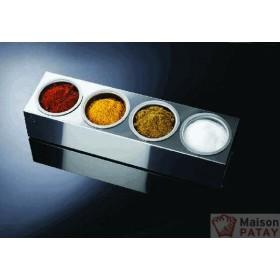 SIPHONS : ROLL BOX INOX 4 BOLS