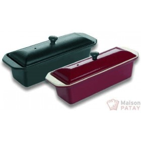 FONTE EMAILLEE : TERRINE NOIRE L 28CM 1,1L