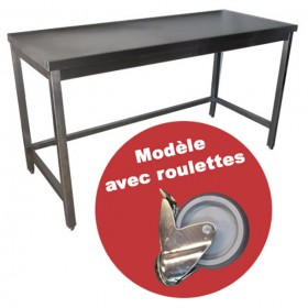 CONFIGUREZ VOTRE TABLE INOX A ROULETTES [product_short_desc]