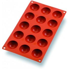 MOULE SOUPLE 1/2 SPHERE (x15) GASTROFLEX