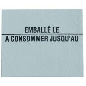 8x1750 ETIQUETTE DATE EMB/CONS