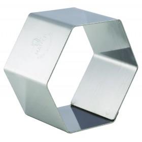 4 NONNETTES INOX HEXAG 67X67X30