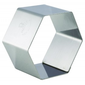 4 NONNETTES INOX HEXAG 70X70X40