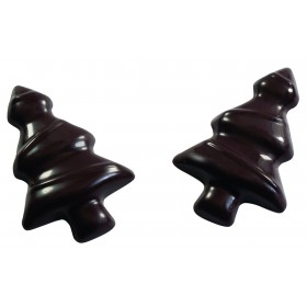 PLAQUE CHOCO 12 MINI-SAPINS H5