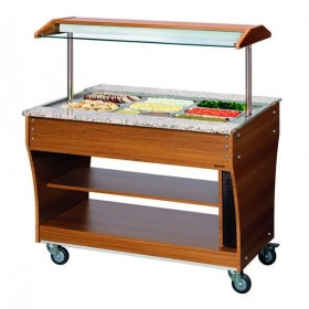 CHARIOT BUFFET - CHAUD - 3X 1/1GN