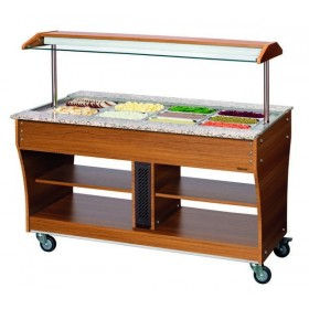 CHARIOT BUFFET - CHAUD - 4X1/1GN